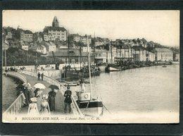 CPA - BOULOGNE SUR MER - L'Avant Port - La Jetée, Animé - Boulogne Sur Mer