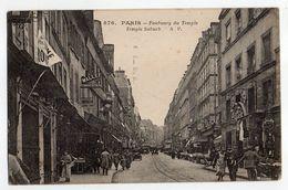 PARIS 10°-1931- Rue Du Faubourg Du Temple (très Animée, Commerces )-timbre...cachet Expo Coloniale Paris 1931...à Saisir - Arrondissement: 10
