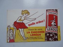 VIEUX PAPIERS - BUVARDS : Chicorée LEROUX - Alimentare