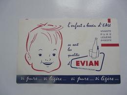 VIEUX PAPIERS - BUVARDS : EVIAN - Alimentare
