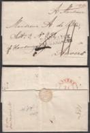 """Danemark - LAC De Copenhague 14/12/1839 Vers Anvers - Griffe Linéaire """" DANEMARK PAR HAMBOURG """" (RD233)DC5747 - Danimarca"""
