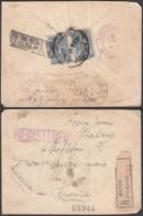 Grèce - Lettre Yv.185x2 En Recom. De Athènes 15/08/1917 Vers USA - Cachet Censure Militaire Verso (RD239)DC5753 - Grèce