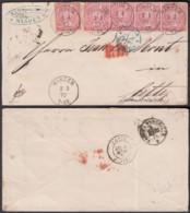 """Allemagne-Lettre Yv.15x5 Dont Bande De 4 De Minden 2/3/1870 Vers Cette-Cachet Ambulant """"Paris à Marseille (RD240)DC5754 - Allemagne"""