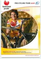 David CANADA GRACIA . 2 Scans. Cyclisme. Saunier Duval Prodir 2006 - Radsport