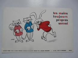 VIEUX PAPIERS - BUVARDS : Buvard Offert Par La Caisse Primaire Centrale De Sécurité Sociale De La Région Parisienne - Alimentare