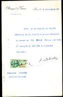 Numismatique - Autographe D'Ernest Pierre DELOCHE (1861-1950) - Graveur D'un Billet BDF (Type BAUDRY) - Banconote