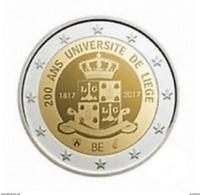 Belgie 2017  2 Euro Commemo 200 Jaar Universiteit Van Luik  Université De Liège   Extreme Rare !!! UNC - Belgique