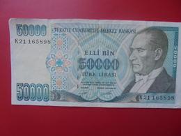 TURQUIE 50.000 LIRA 1970/89 CIRCULER (B.5) - Turkije