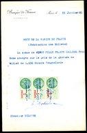 Numismatique - Autographe D'Ernest Pierre DELOCHE (1861-1950) - Graveur D'un Billet - YOUGOSLAVIE - Banconote