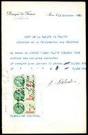 Numismatique - Autographe D'Ernest Pierre DELOCHE (1861-1950) - Graveur De 2 Billets - URUGUAY - Banconote