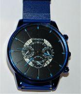 MONTRE BLEU HOMME OU UNISEXE GENEVA NEUVE FONCTIONNE - Watches: Modern