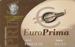 SCHEDA TESSERA EURO PRIMA  NON ATTIVA - Non Classificati