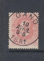 COB 34 Oblitération Centrale GAND - 1869-1883 Leopold II.