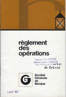 Société Générale De Banque - Règlement Des Opérations - 1 NOV 1967 - Bank & Insurance