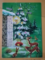 KOV 8-198 - NEW YEAR, Bonne Annee, Biche, Doe, Deer, Fawn, Faon - Nouvel An
