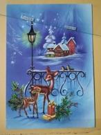 KOV 8-198 - NEW YEAR, Bonne Annee, Biche, Doe, Deer, Fawn, Faon, - Nouvel An