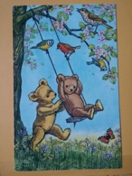 KOV 8-198 - NEW YEAR, Bonne Annee, Bear, Ours, Bird, Oiseau, Papillon, Butterfly - Nouvel An