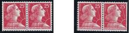 France - Thématique Marianne De Muller - N° 1011 Cb Type 2 ** - TTB - 1959 - Variété Piquage Décalé - Variétés Et Curiosités