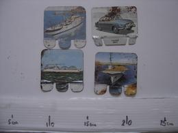 Annees 50 Lot Anciennes Plaques Metal De BATEAUX Huilor AUTOMOBILE Basquaise - Autres Collections
