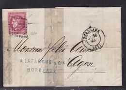France, Gironde - Yvert N° 49b Sur LAC Restaurée De Bordeaux Du 26 Mai 1871 - Signé Calves - Cote + De 1000 € - Marcophilie (Lettres)