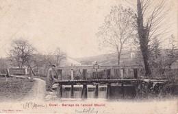 FRANCE 1906  CARTE POSTALE DE CUREL    BARRAGE DE L'ANCIEN MOULIN - France