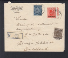 Yugoslavia Registered Cover 1933 Bled To Germany - Covers & Documents