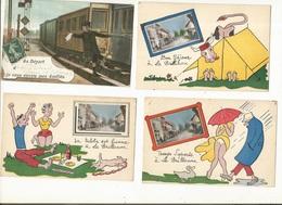 CPA ,Lot De 28 Cartes Souvenirs  ,1910-1960 - Cartes Géographiques
