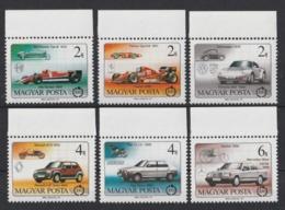 1986 Ungheria Automobili Cars Voitures Set MNH** B467 - Automobili