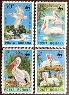 Romania 1984 WWF Dalmatian Pelican Birds MNH - Vögel
