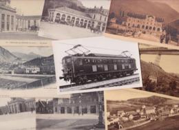 Lot 2295 De 10 CPA Gares Chemin De Fer Train Divers Déstockage Pour Revendeurs Ou Collectionneurs - Postcards