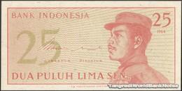 TWN - INDONESIA 93a - 25 Sen 1964 Various Prefixes UNC - Indonesia
