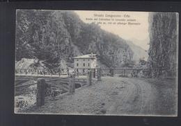 Cartolina Strada Longarone-Erto 1914 - Altre Città