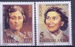 YU 1996-2777-8 EUROPA CEPT, YUGOSLAVIA, 2v, MNH - Berühmt Frauen