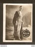 CHROMO CIGARETTES MÉLIA ALGER ALGÉRIE - FEMME EN MAILLOT DE BAIN PIN UP BAIGNEUSE - BATHER WOMAN - LÉO 1090 - Melia