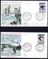 FDC FRANCE 1962 - N° 1326 Et 27 - Championnat Du Monde De Ski à Chamonix - 1960-1969