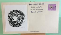 Monnaie Gauloise (Sérigraphie De Bartok) - Paris - 1.7.1976 - FDC 1er Jour (Tampon Sèche Au Dos) - 1970-1979