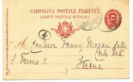 1903 SERVIZIO POSTALE SUL LAGO DI GARDA (6) DC - 1878-00 Umberto I