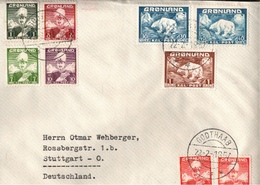 ! 1957 Brief Aus Grönland Nach Stuttgart, Eisbären, Godthaab, Greenland - Groenland