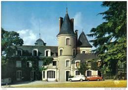 Carte Postale 49. Savennières  Et Le Chateau De La Guerche  404 Peugeot Trés Beau Plan - Frankrijk