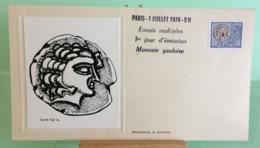 Monnaie Gauloise (Sérigraphie De Bartok) - Paris - 1.4.1977 - FDC 1er Jour (Tampon Sèche Au Dos) - 1970-1979