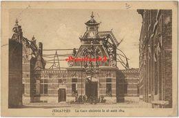 Jemappes - La Gare Sinistrée Le 23 Aout 1914 - 1920 - Mons