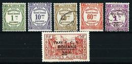 Argelia (Francesa) Tasa-15/19-27*/º Cat.7,90€ - Algeria (1924-1962)