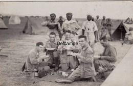 CP Photo : Soldats Du 1er Régiment De Tirailleurs Marocains - La Soupe - Souk Elarbaa Du Gharb -  Octobre 1930 - Guerre, Militaire