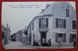 Cpa 78 BURES  Anime Maison BODIN Epicerie Hotel Restaurant Bosquets - Bures Sur Yvette