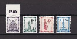 Franz. Zone - Baden - 1949 - Michel Nr. 38/41 A - Postfrisch - 88 Euro - Französische Zone
