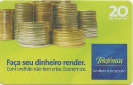 Brésil : Façade's Sue Dinheiro Render. Telefonica - Postzegels & Munten