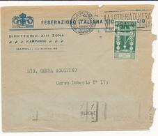 1938 NAPOLI BUSTA PUBBLICITARIA FIGC FEDERAZIONE GIOCO CALCIO - Marcophilia