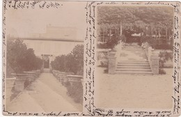 Carte Photo : Allée Et Escalier à TERNI ( 1904 ) - Au Dos  Tampon Perlé - CHANOS-CURSON - Drome - Jean - BALLY - - Fotografía