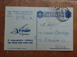 REGNO - Cartolina Postale Per Le Forze Armate - Formato Piccolo + Spese Postali - 1900-44 Vittorio Emanuele III