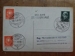 REGNO - Marcofilia - Triennale Di Milano Anno 1940 + Spese Postali - 1900-44 Vittorio Emanuele III